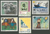 Faroe Islands 1979 Year Set, Scott Cat Nos. 42 - 47, MNH