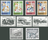 Faroe Islands 1982 Year Set, Scott Cat Nos. 81 - 89, MNH