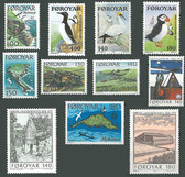 Faroe Islands 1978 Year Set, Scott Cat Nos. 31 - 41, MNH