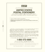 Scott U.S. Postal Stationery Album Supplement, 2017 #63