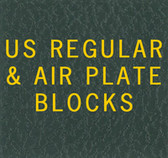 Scott US Regular Plate Block Specialty Binder Label