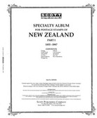 Scott New Zealand Stamp Album Pages, Part 1 (1855 - 1987)