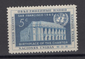 United Nations -  Offices in New York, Scott Cat. No. 12, MNH