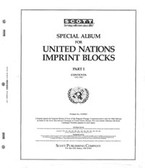 Scott United Nations Imprint Blocks Album Part, Part 1 (1951 - 1962)