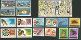 Papua New Guinea Year Set 1980, Scott Cat No. 512-528, MNH