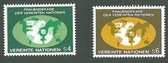 United Nations - Offices in Vienna, Scott Cat. No. 9 - 10, MNH