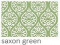 Round Place mats, green print