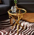 Gold Bamboo Drinks Table