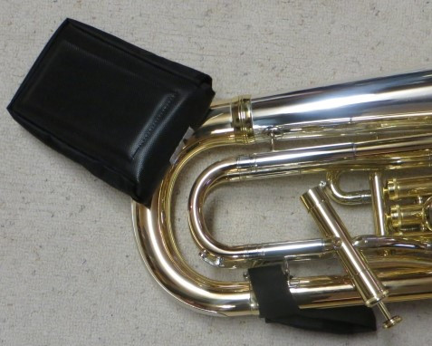 LPC-001 Euphonium Lift Combination.  Includes both Euphonium Lap Pad (LPT-001) and the Euphonium Hand Strap (EHS-001). Be comfortable while sitting or standing.