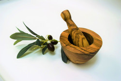 Olive Wood Small Mortar & Pestle