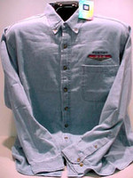 PONTIAC GTO DENIM BUTTON DOWN WOVEN SHIRT