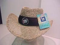 BUICK TRI-SHIELD STRAW HAT