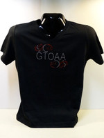 GTOAA LADIES V-NECK RHINESTONE TEE SHIRT