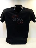 GTOAA LADIES V-NECK RHINESTONE TEE SHIRT