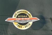 LIMITED EDITION 50TH ANNIVERSARY GTOAA WINDOW STICKER