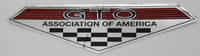GTO ASSOCIATION OF AMERICA CHROME EARLY TRIANGLE SURFACE STICKER