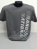 BUICK GRAND NATIONAL CHARCOAL SILKSCREEN TEE SHIRT LICENSED BY GM