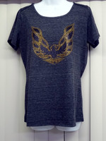 Pontiac firebird 2nd Generation TA ladies glitter/rhinestone lace tee shirt