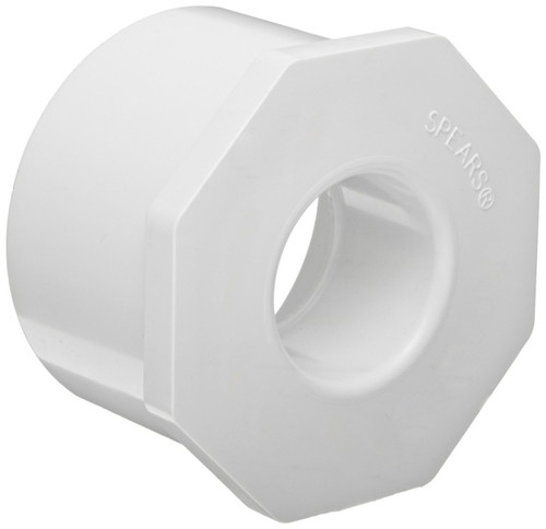 "1 1/2"" x 1"" PVC Schedule 40 Reducer Bushing (Sp x S)"