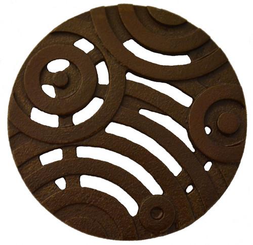 "Iron Age Cast Iron Oblio 4"" Round Grate"