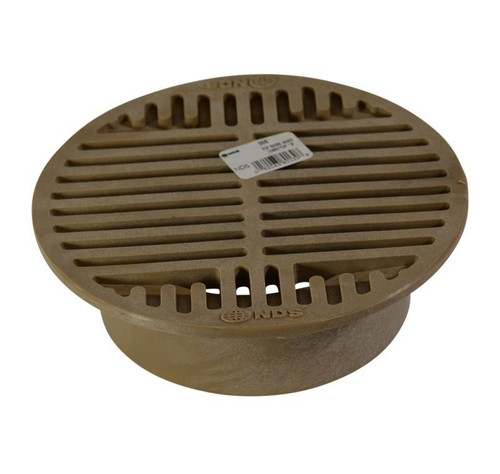 """NDS  8"""" Round Grate for 6"""" Pipe or Basin - Sand (Each)"""