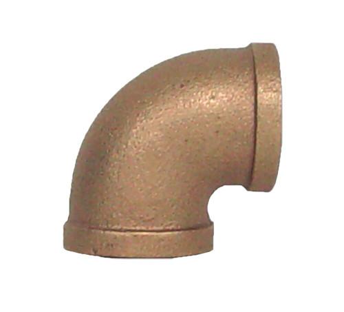 """1"""" Bronze 90 Elbow (1/4) (FPT x FPT)"""