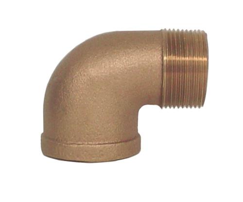 "1/8"" Bronze Street 90 Elbow (1/4) (FPT x MPT)"
