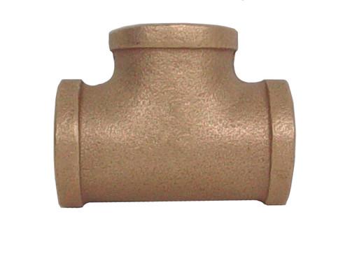 """1 1/4"""" x 1 1/4"""" x 1 1/4"""" Bronze Tee (FPT x FPT x FPT)"""