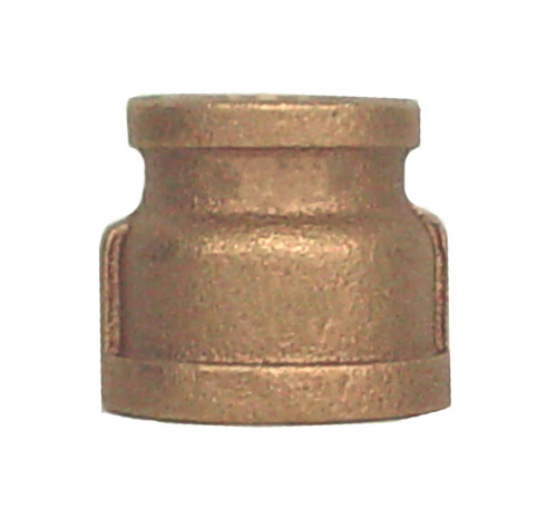 "1 1/2"" x 1 1/4"" Bronze Reducer Coupling (FPT x FPT)"