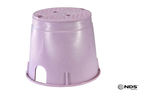 "NDS 10"" Round Valve Box (Purple Box / Purple Cover)"