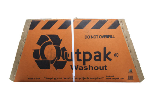 Outpak 4' x 4' Concrete Washout Container