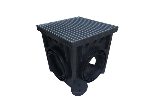 """NDS 24"""" Four Hole Catch Basin Kit w/ Galvanized Metal Grate"""