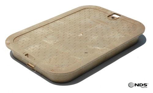 """NDS 14"""" x 19"""" Valve Box Cover ONLY - Sand"""