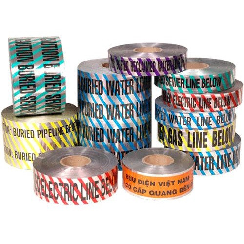 """2"""" X 1000' Blue Detectable Marking Tape - Water"""