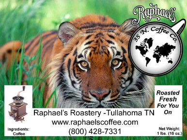 Certified Fair Trade Organic Sumatra Mandheling.