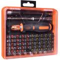 53-Piece Screwdriver Tool Kit w/Assorted Bits, Tweezers, 2 Extension Bars & Case - WT8027