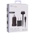 Vivitar Infinite Wall & Car Charger Kit for iPhone & iPod w/Micro USB Cable & 30-Pin Dock Connector