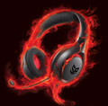 Creative Inferno Gaming Headset, Wired Connectivity - Stereo - Over-the-head, Minimum Frequency Response: 20 Hz Maximum Frequency Response: 20 kHz, Cable Length: 8 ft, Sound Mode: Stereo, Microphone Sensitivity: -40 dB