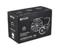 ID-COOLING AURAFLOW 120 RGB SYNC AIO Water Cooler with 120mm Radiator, 120mm RGB PWM Fans, Premium Sleeved Tubing, Copper Base & Aluminum Heatsink, Intel & AMD