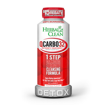 Herbal Clean QCarbo32 Detox with Eliminex Plus Tropical 32 fl oz (948 ml)