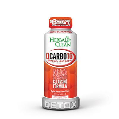 Herbal Clean QCarbo16 Mega Strength with Eliminex Strawberry-Mango 16 fl oz (473 ml)