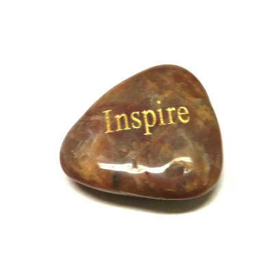 Engraved Inspirational River Stone - ASPIRE