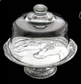 """Arthur Court Footed Plate with Dome  SKU # A14-1104F  Keep your food fresh longer with this footed plated with glass dome.  8"""" Dia."""