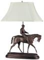Jockey Boy and Horse Lamp