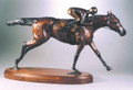 "Connie Foss Lost Wax Bronze ""El Uno""  SKU # A21-2509E  ""El Uno"" Lost wax bronze on hardwood base by renowned sculptor Connie Foss.  100 lbs.  31 x 15  Please allow 3 months for casting."