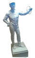 "Lawn Jockey ""As Is"" (White) or ""Painted With Your Silks!"""