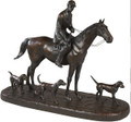 Huntsman and Three Hounds Sculpture