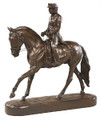 "Dressage Lady Sculpture  SKU # 20-2105A  Masterful dressage lady sculpture by Belden.  Please see our matching Lamp.  12""W x 12""H x 4""D"