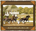 "Harness Racing Throw  SKU # A19-1401D  Harness Racing is beautifully displayed on this stunning throw.   100% cotton tapestry afghan.  Machine washable.  Made in the USA.  2.5 lbs.  60""L x 48""W"