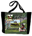"Three Day Eventing Tote  SKU # A11-1208G  Three Day Eventing is beautifully displayed on this colorful tote.  Machine washable tote.  Made in the USA.  1.5 lb.  17""W x 11""H x .15""D"